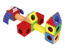 Colorful toy blocks Stock Images