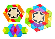 Colorful toy blocks in groups Royalty Free Stock Photos
