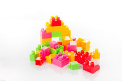 Colorful Toy Blocks Isolated on White Royalty Free Stock Photo