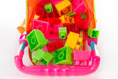 Colorful Toy Blocks Isolated on White Royalty Free Stock Image