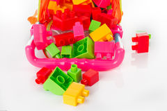 Colorful Toy Blocks Isolated on White Stock Photo