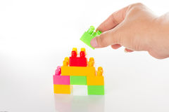 Colorful Toy Blocks Isolated on White Royalty Free Stock Photography