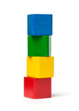 Colorful Toy Blocks Tower Stock Photography