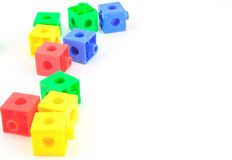 Colorful toy blocks Stock Photo
