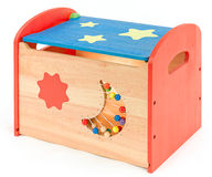 Colorful toy box for kids Royalty Free Stock Image