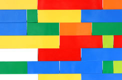 Colorful toy brick Stock Image