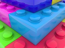 Colorful toy bricks close up. In backgrounds stock illustration