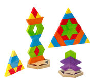Colorful toy bricks for kids Stock Photo