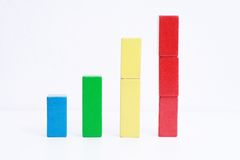 Colorful toy business chart Stock Photography