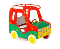 Colorful toy car. On the playground Royalty Free Stock Photo