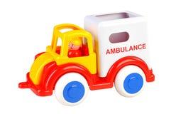 Colorful toy car. Ambulance. isolated on white Royalty Free Stock Photos