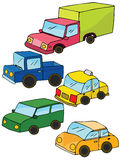 Colorful toy cars Stock Photo