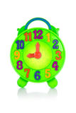 Colorful toy clock. Royalty Free Stock Photo