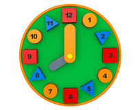 Colorful toy clock. 3d rendering Stock Photography
