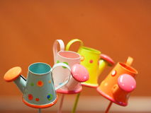 Colorful toy. Colorfol toy, Kettle made by iron Stock Photos