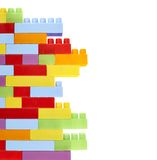 Colorful toy construction bricks Royalty Free Stock Photo
