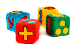Colorful Toy Cubes Stock Photos