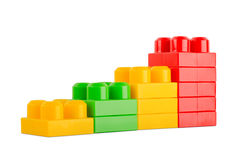 Colorful toy cubes Stock Images