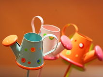 Colorful Toy Details. Colorfol toy, Kettle made by iron Royalty Free Stock Image