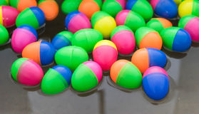 Colorful of toy egg float on water Royalty Free Stock Photography