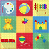Colorful toy icons Royalty Free Stock Photo