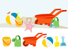 Colorful toy illustrations Stock Images