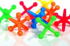 Colorful Toy Jacks Royalty Free Stock Photos
