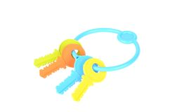 Colorful toy keys isolated on white background Stock Photography