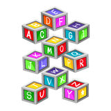 Colorful Toy Letter Blocks Stock Photo