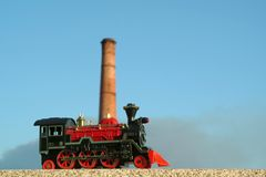 Colorful toy locomotive Stock Photography