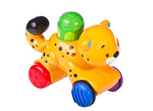 Colorful toy locomotive Royalty Free Stock Photos