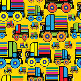 Colorful toy machine seamless pattern Royalty Free Stock Images