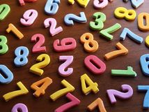 Colorful  toy numbers Royalty Free Stock Image