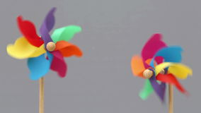 Colorful toy pinwheel stock footage