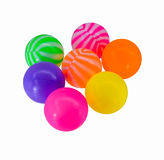 Colorful toy plastic balls Royalty Free Stock Photos