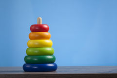 Colorful toy pyramid Royalty Free Stock Photo
