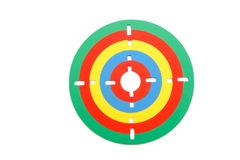 Colorful toy rubber target Royalty Free Stock Image