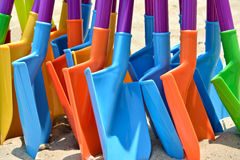 Colorful toy shovel Royalty Free Stock Photography