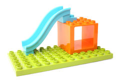 Colorful toy slide Royalty Free Stock Image
