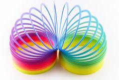 Colorful toy spring Stock Image
