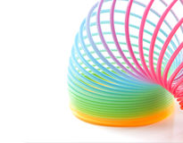 Colorful Toy Spring Rainbow Royalty Free Stock Photo