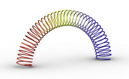 Colorful toy spring spiral Stock Photography