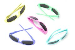 Colorful toy sunglasses Royalty Free Stock Photos