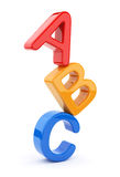 Colorful toy symbols heap  of alphabet 3D Royalty Free Stock Photo