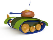Colorful Toy Tank. In 3d Stock Photography