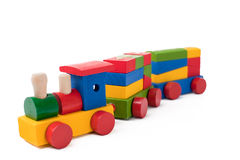Colorful toy train Royalty Free Stock Photography