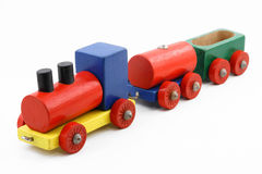 Colorful toy train Stock Image