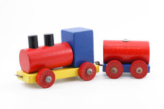 Colorful toy train Royalty Free Stock Image