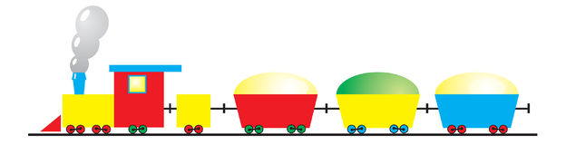 Colorful toy train. A vector illustration of colorful toy train Stock Illustration