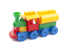Colorful toy train. With clipping path stock photo